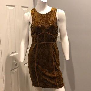 Velvet burn out mini dress